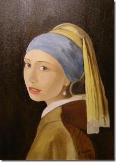 Omaggio a Vermeer Ragazza con Turbante