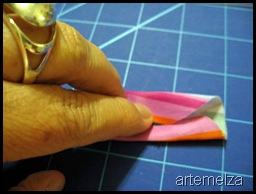 artemelza - flor de fuxico reto
