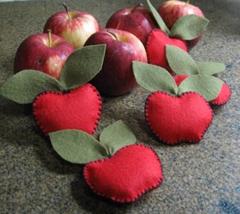 artemelza - maçã de feltro
