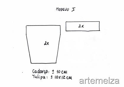 artemelza - chaveiro vaso com tulipa