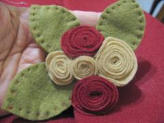 artemelza - rosas de feltro