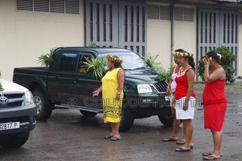 Les voitures décorées attendent...