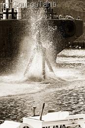 Plouf dans l'eau !