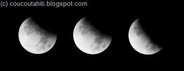 Eclipse  du 26-06-2010: clichés pris entre 0h30 et 1h10