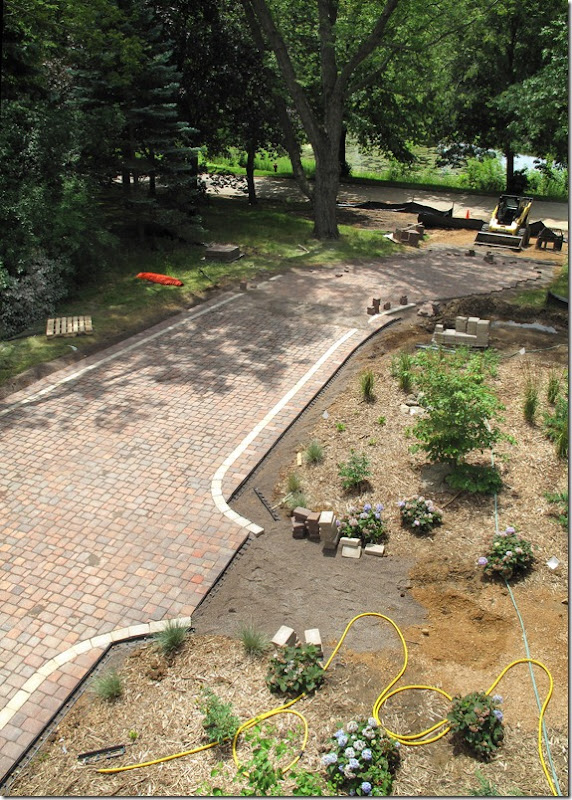 Shaped Driveway Landscaping : The quot l shaped house landscaping weekend driveway report