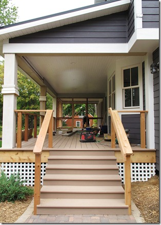 The l shaped house carpentry porches day 6 for L shaped house front porch