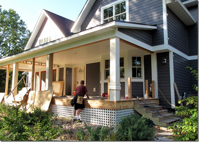 The L Shaped House Carpentry Porches Day 3 Evening Report