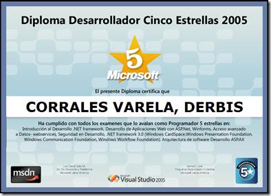 Diploma Desarrollador 5 Estrellas