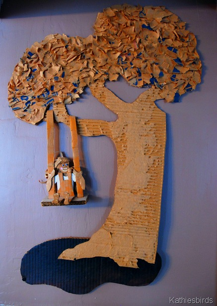 7. Cardboard art