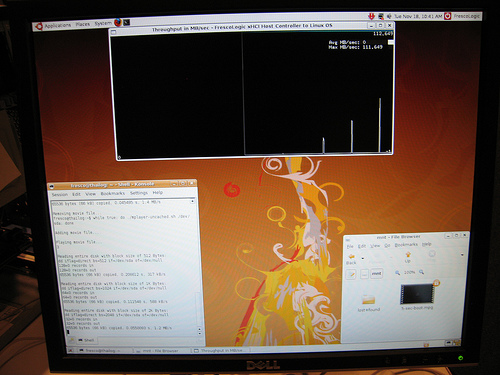 Linux USB 3.0 demo - image copyright 2008 Sarah Sharp