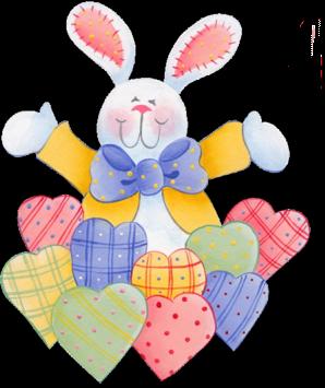 Desenho de um coelho da P�scoa com bra�os abertos
