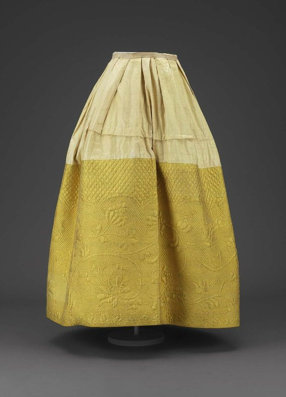 Yellow quilted petticoat