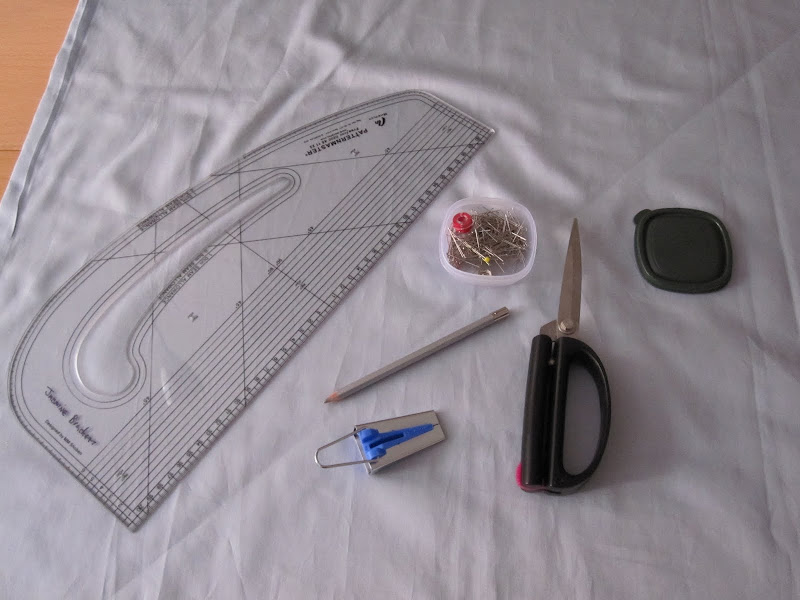 Some of the tools I used to make the bias binding