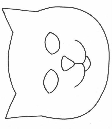 Imagenes de la cara de un gato para colorear - Imagui