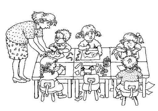 Dibujos de un salon de clases para colorear - Imagui