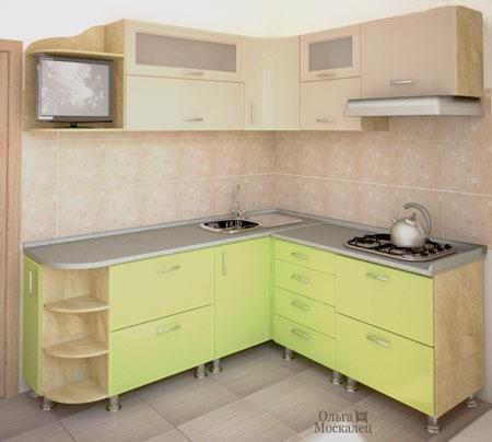 Дизайн проект кухни хрущевке