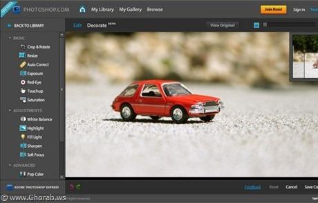 Adobe Photo Shop Express Online