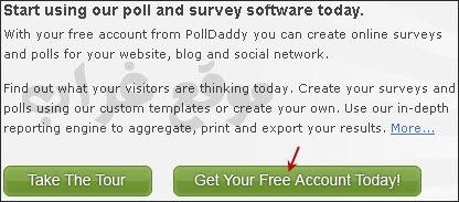التسجيل في polldaddy