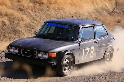 Saab Rally Car At Wild West Rally 2009