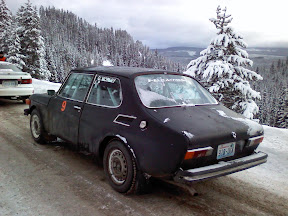 Saab 99 EMS Rally Car at Big White Winter Rally in Kelowna, BC