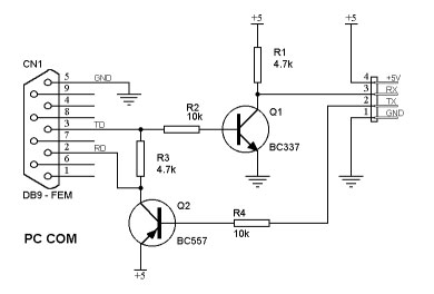 Conector serie de GIGASET 740/750 C232-transistor