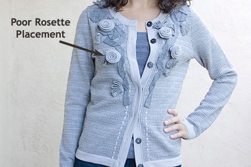 Banana Republic Petite Rosette Cardigan Close