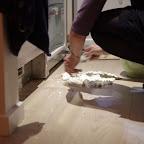ØV, det måtte ikke ske!! Risalamanden røg på gulvet, men der kunne da lige redes en portion til hver.