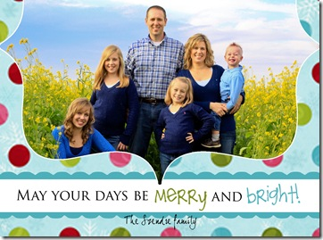 szendre merry and bright xmas card