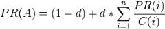 algoritmo pagerank