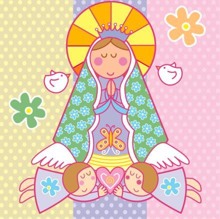Dibujos de la virgen caricatura - Imagui
