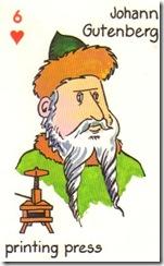 Gutenberg Playing Card