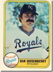 Dan Quisenberry Fleer 81