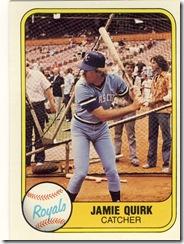 Jamie Quirk Fleer 81