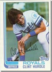 Clint Hurdle Topps 82