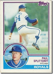 Paul Splittorff Topps 83