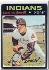 Topps 71 Sam McDowell