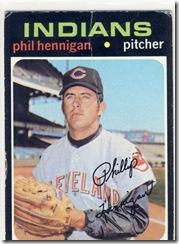 Topps 71 Phil Hennigan