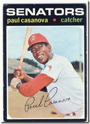 Topps 71 Paul Casanova