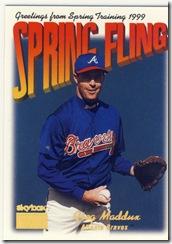 Skybox Spring Fling Greg Maddux