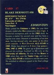 CFL 1 Blake Dermott Back