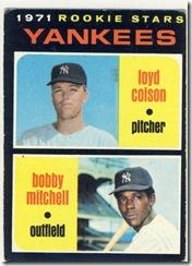 1971 111 Yankee Rookies