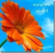 The Sunshine Blog award