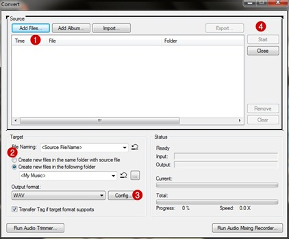 แปลงไฟล์ ด้วย JetAudio