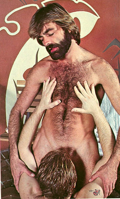 bob blount with hairy chest and partner having oral sex