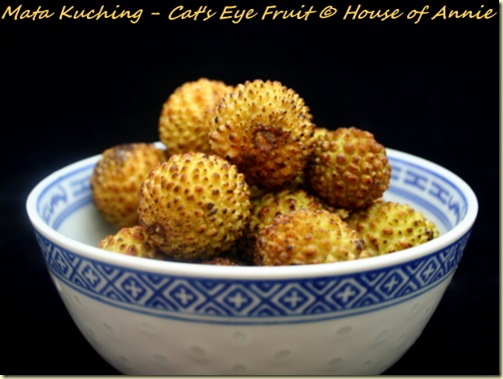 Yellow Mata Kuching Cats Eye Fruit