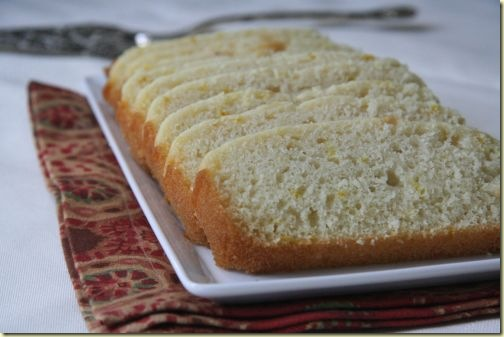 eggless low fat lemon loaf - evolving tastes