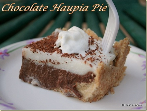 chocolate haupia pie slice