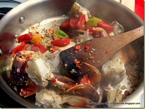 Chopped Dungeness Crab with Tomato and Chillies