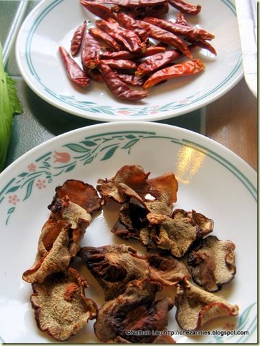 Dried Chillies and Assam Pei