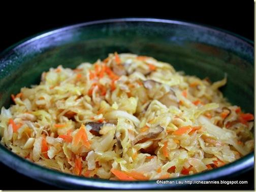 Jiu Hu Char (vegetables cooked with dried shrimp